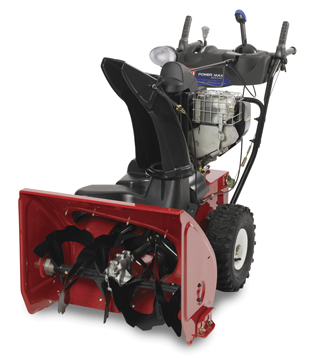 red snow blower
